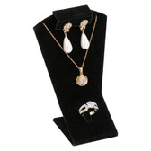 Necklace Earring Ring Combo Set Display Black