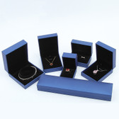 Faux Leather Jewelry Gift Boxes Blue