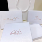 "Custom Print Shipping Friendly Box 2 3/4""x3 1/2""x5/8"" White Linen (Foam Insert)"