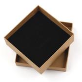 """100 Jewelry Gift Box 3 5/8"""" x 3 5/8"""" x 1"""" (Foam Insert) Kraft"""