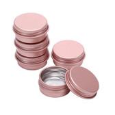 100pcs Round Tin Box 30ML Jar (47*24mm) Rose Gold