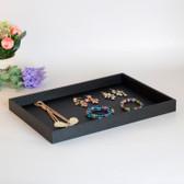 Black Leather Jewellery Display Plain Tray
