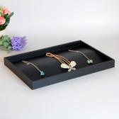 Black Leather Jewellery Tray Bracelet Necklace Pendant