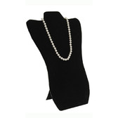 """Necklace Display Easel Board 14""""H Black Leather"""