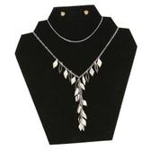 Necklace Pendant Display Easel Black Velvet