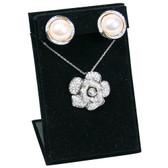 Pendant + Earring Jewelry Set Display Black Velvet