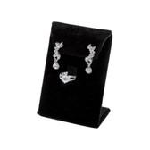 Earring + Ring Jewelry Set Display Black Velvet