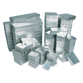 100 Mixed 5 Size Jewelry Box (Cotton-Filled) Silver