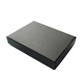 """Jewellery Box 5.5"""" x 4"""" x 1""""H (Foam Insert) Linen Black"""