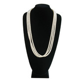 "Padded Neck Bust X-Large Necklace Display 15""H Black Velvet"
