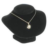 "Padded Neck Bust Necklace Low Profile Display 4.5""H Black Velvet"