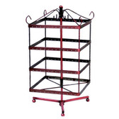 Earring Display Square Rotate Rack 128 Holes Copper