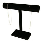 "Necklace Bracelet Chain Display T-Bar 12""H Black Velvet"
