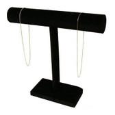 """Necklace Bracelet Chain Display T-Bar 12""""H Black Velvet"""