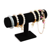 "Bracelet Bangle Jewelry Chain Display T-Bar 5.5""H Black Velvet"