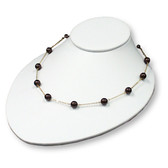 "Padded Neck Bust 3""H Necklace Display Oval Low Profile White Leather"
