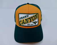 Grand Canyon Mesh Baseball Hat Green and Gold