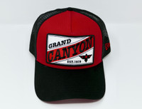 Grand Canyon Mesh Baseball Hat Red and Black