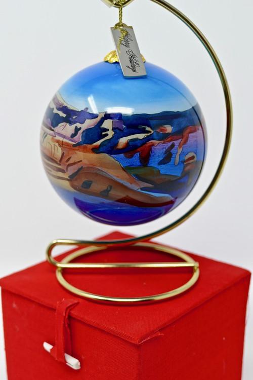 Christmas Ornament Grand Canyon Painted Glass - Grand Canyon