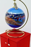 Christmas Ornament Grand Canyon Painted Glass