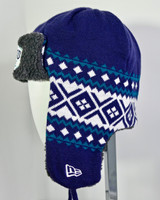 Grand Canyon Trapper Knit Hat Navy Blue and Teal