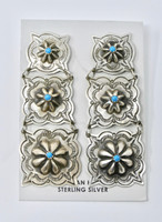 Earrings Navajo Sterling Silver & Turquoise Dangle