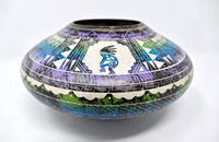 Navajo Horsehair Pottery with Kokopelli