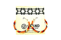 Earrings Navajo Beadwork Hoops