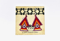 Earrings Navajo Beadwork Arrowheads