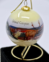 Christmas Ornament Grand Canyon Snow Painted Glass