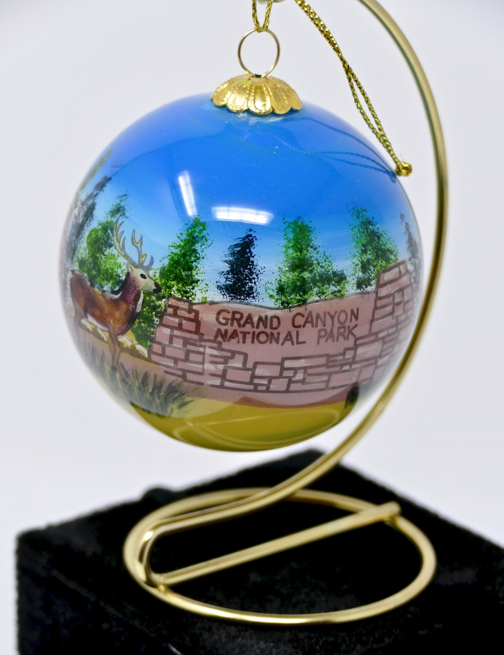 Christmas Ornament Grand Canyon Sign Painted Glass - Grand Canyon