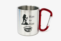 Grand Canyon Rim to Rim Stainless Steel Carabiner Mug Red or Blue