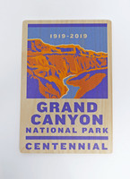 Grand Canyon Centennial 2019 Wooden Postcard