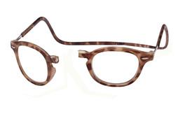 Clic Magnetic Reading Glasses Vintage Oval Style in Light Demi-Tortoise :: Regular Fit