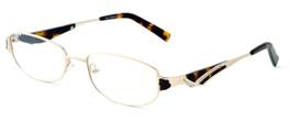 Calabria Designer Eyeglasses 824 Gold :: Rx Single Vision