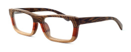 """Specs of Wood Designer Wooden Eyewear Made in the USA """"Serious III"""" in Red Rosewood (Red) :: Rx Single Vision"""