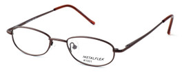 Calabria Kids Fit MetalFlex Designer Eyeglasses 1001 in Brown :: Rx Single Vision