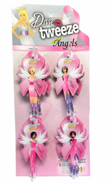 Diva Tweezer Pink Ribbon Theme Angels