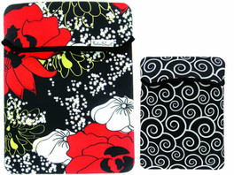 Fashion Smart Reversible Tablet Sleeve in Black