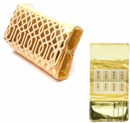 Fashion 7-Day Pill Box in Coral-Trellis