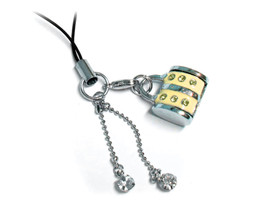 Cell Phone Gems Charms Lanyard Accessory 6007 in Yellow