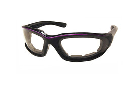 Light Adjusting Photochromatic Glasses w/ Foam Padding in Black/Orange