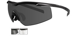 Wiley X PT-3 Wrap Around Safety Glass in Matte Black w/ Clear & Grey  Lens