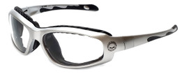Harley-Davidson Official Designer Safety Eyewear HDSZ709-SI in Silver Frame with Clear Lens