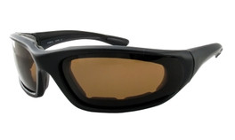 Calabria 4728 Polarized Safety Sunglasses in Black with Brown Tint
