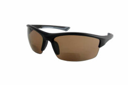 Calabria Sport 202BF Bi-Focal Safety Glasses UV Protection in Black-Amber