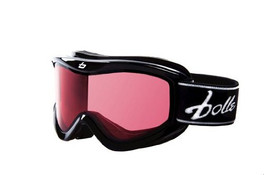 Bollé Ski Goggles: Volt in Black with Vermillion Lens Youth Size