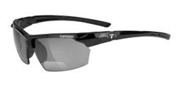 Tifosi High Performance Bi-Focal Reading Sunglasses Jet in Gloss-Black & Smoke Lens