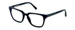 Parkman Handcrafted Reading Glasses Bradfield in Matte-Black with Denim ; Made in the USA