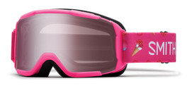 Smith Optics Snow Goggles Daredevil JR in Pink Sugarcone with Ignitor Mirror Lens
